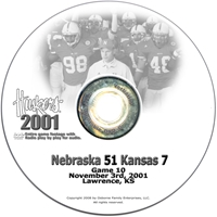 2001 Nebraska Vs Kansas Husker football, Nebraska cornhuskers merchandise, husker merchandise, nebraska merchandise, nebraska cornhuskers dvd, husker dvd, nebraska football dvd, nebraska cornhuskers videos, husker videos, nebraska football videos, husker game dvd, husker bowl game dvd, husker dvd subscription, nebraska cornhusker dvd subscription, husker football season on dvd, nebraska cornhuskers dvd box sets, husker dvd box sets, Nebraska Cornhuskers, 2001 Kansas