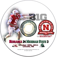 2011 MICHIGAN STATE Husker football, Nebraska cornhuskers merchandise, husker merchandise, nebraska merchandise, nebraska cornhuskers dvd, husker dvd, nebraska football dvd, nebraska cornhuskers videos, husker videos, nebraska football videos, husker game dvd, husker bowl game dvd, husker dvd subscription, nebraska cornhusker dvd subscription, husker football season on dvd, nebraska cornhuskers dvd box sets, husker dvd box sets, Nebraska Cornhuskers, 2011 Michigan State