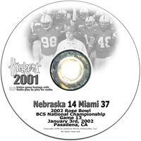 2002 Rose Bowl Vs Miami Husker football, Nebraska cornhuskers merchandise, husker merchandise, nebraska merchandise, nebraska cornhuskers dvd, husker dvd, nebraska football dvd, nebraska cornhuskers videos, husker videos, nebraska football videos, husker game dvd, husker bowl game dvd, husker dvd subscription, nebraska cornhusker dvd subscription, husker football season on dvd, nebraska cornhuskers dvd box sets, husker dvd box sets, Nebraska Cornhuskers, 2002 Rose Bowl vs. Miami - National Championship