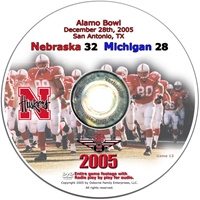 2005 Dvd Alamo Vs Michigan Husker football, Nebraska cornhuskers merchandise, husker merchandise, nebraska merchandise, nebraska cornhuskers dvd, husker dvd, nebraska football dvd, nebraska cornhuskers videos, husker videos, nebraska football videos, husker game dvd, husker bowl game dvd, husker dvd subscription, nebraska cornhusker dvd subscription, husker football season on dvd, nebraska cornhuskers dvd box sets, husker dvd box sets, Nebraska Cornhuskers, 2005 Alamo Bowl vs. Michigan