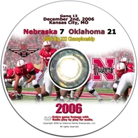 Big Xii Championship Husker football, Nebraska cornhuskers merchandise, husker merchandise, nebraska merchandise, nebraska cornhuskers dvd, husker dvd, nebraska football dvd, nebraska cornhuskers videos, husker videos, nebraska football videos, husker game dvd, husker bowl game dvd, husker dvd subscription, nebraska cornhusker dvd subscription, husker football season on dvd, nebraska cornhuskers dvd box sets, husker dvd box sets, Nebraska Cornhuskers, 2006 Big XII Championship Game vs. OU