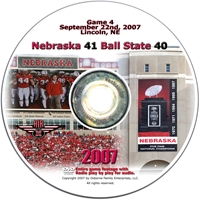 2007 Dvd Ball State Husker football, Nebraska cornhuskers merchandise, husker merchandise, nebraska merchandise, nebraska cornhuskers dvd, husker dvd, nebraska football dvd, nebraska cornhuskers videos, husker videos, nebraska football videos, husker game dvd, husker bowl game dvd, husker dvd subscription, nebraska cornhusker dvd subscription, husker football season on dvd, nebraska cornhuskers dvd box sets, husker dvd box sets, Nebraska Cornhuskers, 2007 Ball State