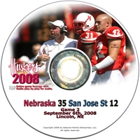 2008 Dvd San Jose State Husker football, Nebraska cornhuskers merchandise, husker merchandise, nebraska merchandise, nebraska cornhuskers dvd, husker dvd, nebraska football dvd, nebraska cornhuskers videos, husker videos, nebraska football videos, husker game dvd, husker bowl game dvd, husker dvd subscription, nebraska cornhusker dvd subscription, husker football season on dvd, nebraska cornhuskers dvd box sets, husker dvd box sets, Nebraska Cornhuskers, 2008 San Jose State