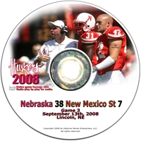 2008 Dvd New Mexico State Husker football, Nebraska cornhuskers merchandise, husker merchandise, nebraska merchandise, nebraska cornhuskers dvd, husker dvd, nebraska football dvd, nebraska cornhuskers videos, husker videos, nebraska football videos, husker game dvd, husker bowl game dvd, husker dvd subscription, nebraska cornhusker dvd subscription, husker football season on dvd, nebraska cornhuskers dvd box sets, husker dvd box sets, Nebraska Cornhuskers, 2008 New Mexico State