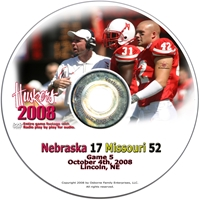 2008 Dvd Missouri Husker football, Nebraska cornhuskers merchandise, husker merchandise, nebraska merchandise, nebraska cornhuskers dvd, husker dvd, nebraska football dvd, nebraska cornhuskers videos, husker videos, nebraska football videos, husker game dvd, husker bowl game dvd, husker dvd subscription, nebraska cornhusker dvd subscription, husker football season on dvd, nebraska cornhuskers dvd box sets, husker dvd box sets, Nebraska Cornhuskers, 2008 Missouri