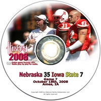 2008 Dvd Iowa State Husker football, Nebraska cornhuskers merchandise, husker merchandise, nebraska merchandise, nebraska cornhuskers dvd, husker dvd, nebraska football dvd, nebraska cornhuskers videos, husker videos, nebraska football videos, husker game dvd, husker bowl game dvd, husker dvd subscription, nebraska cornhusker dvd subscription, husker football season on dvd, nebraska cornhuskers dvd box sets, husker dvd box sets, Nebraska Cornhuskers, 2008 Iowa State