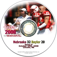 2008 Dvd Baylor Husker football, Nebraska cornhuskers merchandise, husker merchandise, nebraska merchandise, nebraska cornhuskers dvd, husker dvd, nebraska football dvd, nebraska cornhuskers videos, husker videos, nebraska football videos, husker game dvd, husker bowl game dvd, husker dvd subscription, nebraska cornhusker dvd subscription, husker football season on dvd, nebraska cornhuskers dvd box sets, husker dvd box sets, Nebraska Cornhuskers, 2008 Baylor