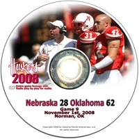 2008 Dvd Oklahoma Husker football, Nebraska cornhuskers merchandise, husker merchandise, nebraska merchandise, nebraska cornhuskers dvd, husker dvd, nebraska football dvd, nebraska cornhuskers videos, husker videos, nebraska football videos, husker game dvd, husker bowl game dvd, husker dvd subscription, nebraska cornhusker dvd subscription, husker football season on dvd, nebraska cornhuskers dvd box sets, husker dvd box sets, Nebraska Cornhuskers, 2008 Oklahoma