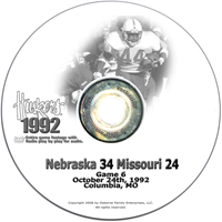 1992 Missouri Husker football, Nebraska cornhuskers merchandise, husker merchandise, nebraska merchandise, nebraska cornhuskers dvd, husker dvd, nebraska football dvd, nebraska cornhuskers videos, husker videos, nebraska football videos, husker game dvd, husker bowl game dvd, husker dvd subscription, nebraska cornhusker dvd subscription, husker football season on dvd, nebraska cornhuskers dvd box sets, husker dvd box sets, Nebraska Cornhuskers, 1992 Missouri
