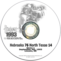 1993 North Texas Husker football, Nebraska cornhuskers merchandise, husker merchandise, nebraska merchandise, nebraska cornhuskers dvd, husker dvd, nebraska football dvd, nebraska cornhuskers videos, husker videos, nebraska football videos, husker game dvd, husker bowl game dvd, husker dvd subscription, nebraska cornhusker dvd subscription, husker football season on dvd, nebraska cornhuskers dvd box sets, husker dvd box sets, Nebraska Cornhuskers, 1993 North Texas