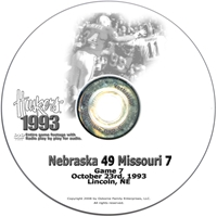 1993 Missouri Husker football, Nebraska cornhuskers merchandise, husker merchandise, nebraska merchandise, nebraska cornhuskers dvd, husker dvd, nebraska football dvd, nebraska cornhuskers videos, husker videos, nebraska football videos, husker game dvd, husker bowl game dvd, husker dvd subscription, nebraska cornhusker dvd subscription, husker football season on dvd, nebraska cornhuskers dvd box sets, husker dvd box sets, Nebraska Cornhuskers, 1993 Missouri