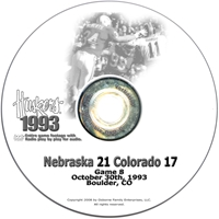 1993 Colorado Husker football, Nebraska cornhuskers merchandise, husker merchandise, nebraska merchandise, nebraska cornhuskers dvd, husker dvd, nebraska football dvd, nebraska cornhuskers videos, husker videos, nebraska football videos, husker game dvd, husker bowl game dvd, husker dvd subscription, nebraska cornhusker dvd subscription, husker football season on dvd, nebraska cornhuskers dvd box sets, husker dvd box sets, Nebraska Cornhuskers, 1993 Colorado