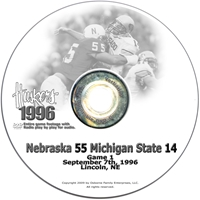 1996 Michigan State Husker football, Nebraska cornhuskers merchandise, husker merchandise, nebraska merchandise, nebraska cornhuskers dvd, husker dvd, nebraska football dvd, nebraska cornhuskers videos, husker videos, nebraska football videos, husker game dvd, husker bowl game dvd, husker dvd subscription, nebraska cornhusker dvd subscription, husker football season on dvd, nebraska cornhuskers dvd box sets, husker dvd box sets, Nebraska Cornhuskers, 1996 Michigan State