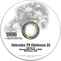 1996 Oklahoma Husker football, Nebraska cornhuskers merchandise, husker merchandise, nebraska merchandise, nebraska cornhuskers dvd, husker dvd, nebraska football dvd, nebraska cornhuskers videos, husker videos, nebraska football videos, husker game dvd, husker bowl game dvd, husker dvd subscription, nebraska cornhusker dvd subscription, husker football season on dvd, nebraska cornhuskers dvd box sets, husker dvd box sets, Nebraska Cornhuskers, 1996 Oklahoma