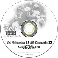 1996 Colorado Husker football, Nebraska cornhuskers merchandise, husker merchandise, nebraska merchandise, nebraska cornhuskers dvd, husker dvd, nebraska football dvd, nebraska cornhuskers videos, husker videos, nebraska football videos, husker game dvd, husker bowl game dvd, husker dvd subscription, nebraska cornhusker dvd subscription, husker football season on dvd, nebraska cornhuskers dvd box sets, husker dvd box sets, Nebraska Cornhuskers, 1996 Colorado