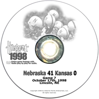 1998 Kansas Husker football, Nebraska cornhuskers merchandise, husker merchandise, nebraska merchandise, nebraska cornhuskers dvd, husker dvd, nebraska football dvd, nebraska cornhuskers videos, husker videos, nebraska football videos, husker game dvd, husker bowl game dvd, husker dvd subscription, nebraska cornhusker dvd subscription, husker football season on dvd, nebraska cornhuskers dvd box sets, husker dvd box sets, Nebraska Cornhuskers, 1998 Kansas