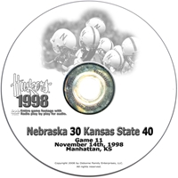 1998 Kansas State Husker football, Nebraska cornhuskers merchandise, husker merchandise, nebraska merchandise, nebraska cornhuskers dvd, husker dvd, nebraska football dvd, nebraska cornhuskers videos, husker videos, nebraska football videos, husker game dvd, husker bowl game dvd, husker dvd subscription, nebraska cornhusker dvd subscription, husker football season on dvd, nebraska cornhuskers dvd box sets, husker dvd box sets, Nebraska Cornhuskers, 1998 Kansas State