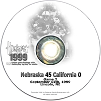 1999 California Husker football, Nebraska cornhuskers merchandise, husker merchandise, nebraska merchandise, nebraska cornhuskers dvd, husker dvd, nebraska football dvd, nebraska cornhuskers videos, husker videos, nebraska football videos, husker game dvd, husker bowl game dvd, husker dvd subscription, nebraska cornhusker dvd subscription, husker football season on dvd, nebraska cornhuskers dvd box sets, husker dvd box sets, Nebraska Cornhuskers, 1999 California