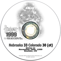 1999 Colorado Husker football, Nebraska cornhuskers merchandise, husker merchandise, nebraska merchandise, nebraska cornhuskers dvd, husker dvd, nebraska football dvd, nebraska cornhuskers videos, husker videos, nebraska football videos, husker game dvd, husker bowl game dvd, husker dvd subscription, nebraska cornhusker dvd subscription, husker football season on dvd, nebraska cornhuskers dvd box sets, husker dvd box sets, Nebraska Cornhuskers, 1999 Colorado