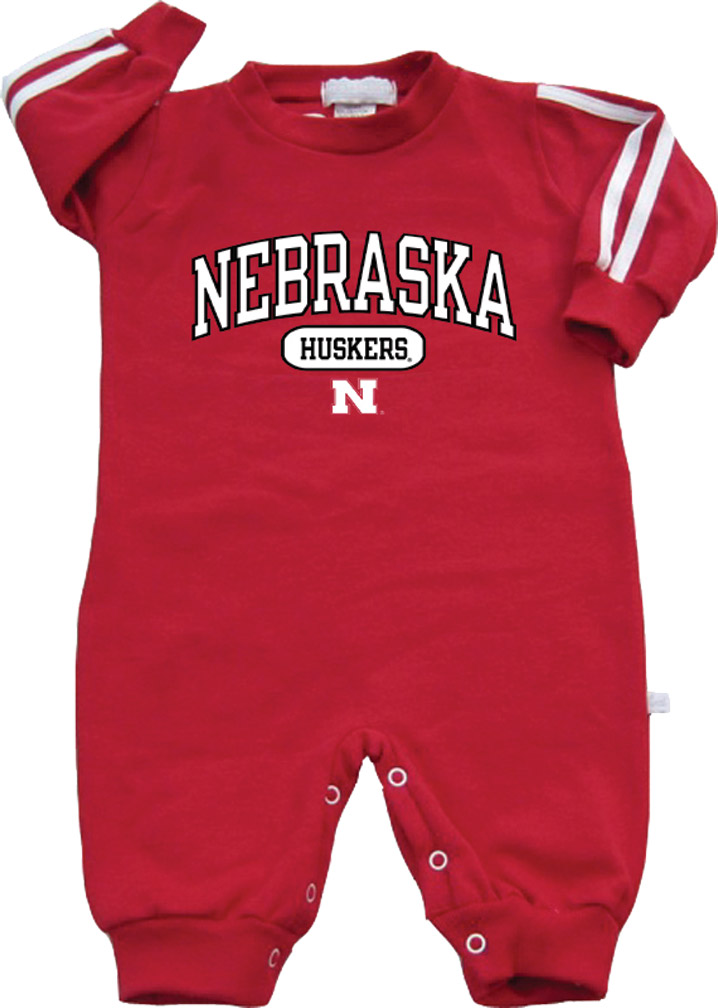 3ST RED L/S STRIPES ROMPER NE HSKRS Nebraska Cornhuskers, husker football, nebraska cornhuskers merchandise, nebraska merchandise, husker merchandise, nebraska cornhuskers apparel, husker apparel, nebraska apparel, husker childrens apparel, nebraska cornhuskers childrens apparel, nebraska kids apparel, husker kids apparel, husker kids merchandise, nebraska cornhuskers kids merchandise,Red Romper Long Slve Stripes Nebr Huskers