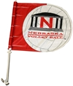 Husker Volleyball Car Flag Nebraska Cornhuskers, husker football, nebraska cornhuskers merchandise, husker merchandise, nebraska merchandise, nebraska cornhuskers vehicle items, husker car stuff, nebraska vehicle items, husker vehicle items, husker auto accessories, nebraska cornhuskers auto accessories, nebraska car accessories, husker car accessories, nebraska cornhuskers car accessories, nebraska cornhuskers truck accessories, husker truck accessories, nebraska truck accessories, Volleyball Car Flag