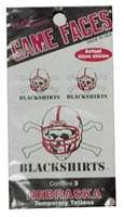 Blackshirts Tattoo 3 Pack Nebraska Cornhuskers, Blackshirts Tattoo