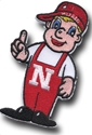 3 Inch Lil%27 Red Patch Nebraska Cornhuskers, Lil Red Patch 3 inch