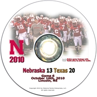 2010 Texas on DVD Husker football, Nebraska cornhuskers merchandise, husker merchandise, nebraska merchandise, nebraska cornhuskers dvd, husker dvd, nebraska football dvd, nebraska cornhuskers videos, husker videos, nebraska football videos, husker game dvd, husker bowl game dvd, husker dvd subscription, nebraska cornhusker dvd subscription, husker football season on dvd, nebraska cornhuskers dvd box sets, husker dvd box sets, Nebraska Cornhuskers, 2010 Texas