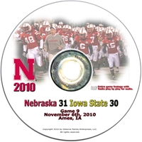2010 Iowa State on DVD Husker football, Nebraska cornhuskers merchandise, husker merchandise, nebraska merchandise, nebraska cornhuskers dvd, husker dvd, nebraska football dvd, nebraska cornhuskers videos, husker videos, nebraska football videos, husker game dvd, husker bowl game dvd, husker dvd subscription, nebraska cornhusker dvd subscription, husker football season on dvd, nebraska cornhuskers dvd box sets, husker dvd box sets, Nebraska Cornhuskers, 2010 Iowa State