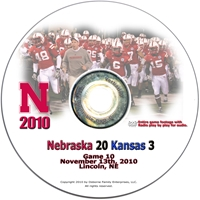 2010 Kansas on DVD Husker football, Nebraska cornhuskers merchandise, husker merchandise, nebraska merchandise, nebraska cornhuskers dvd, husker dvd, nebraska football dvd, nebraska cornhuskers videos, husker videos, nebraska football videos, husker game dvd, husker bowl game dvd, husker dvd subscription, nebraska cornhusker dvd subscription, husker football season on dvd, nebraska cornhuskers dvd box sets, husker dvd box sets, Nebraska Cornhuskers, 2010 Kansas