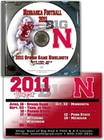 2011 Spring Game Highlights Husker football, Nebraska cornhuskers merchandise, husker merchandise, nebraska merchandise, nebraska cornhuskers dvd, husker dvd, nebraska football dvd, nebraska cornhuskers videos, husker videos, nebraska football videos, husker game dvd, husker bowl game dvd, husker dvd subscription, nebraska cornhusker dvd subscription, husker football season on dvd, nebraska cornhuskers dvd box sets, husker dvd box sets, Nebraska Cornhuskers, 2011 Spring Game Highlights & Schedule Magnet!