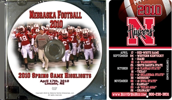 2010 Spring Game Highlight Dvd Husker football, Nebraska cornhuskers merchandise, husker merchandise, nebraska merchandise, nebraska cornhuskers dvd, husker dvd, nebraska football dvd, nebraska cornhuskers videos, husker videos, nebraska football videos, husker game dvd, husker bowl game dvd, husker dvd subscription, nebraska cornhusker dvd subscription, husker football season on dvd, nebraska cornhuskers dvd box sets, husker dvd box sets, Nebraska Cornhuskers, 2010 Spring Game Highlights & 2010 Schedule Magnet
