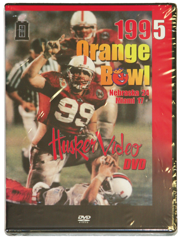 1995 Orange Bowl vs. Miami Husker football, Nebraska cornhuskers merchandise, husker merchandise, nebraska merchandise, nebraska cornhuskers dvd, husker dvd, nebraska football dvd, nebraska cornhuskers videos, husker videos, nebraska football videos, husker game dvd, husker bowl game dvd, husker dvd subscription, nebraska cornhusker dvd subscription, husker football season on dvd, nebraska cornhuskers dvd box sets, husker dvd box sets, Nebraska Cornhuskers, 1995 Orange Bowl dvd