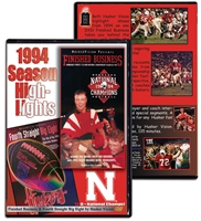 1994 Season Highlights Husker football, Nebraska cornhuskers merchandise, husker merchandise, nebraska merchandise, nebraska cornhuskers dvd, husker dvd, nebraska football dvd, nebraska cornhuskers videos, husker videos, nebraska football videos, husker game dvd, husker bowl game dvd, husker dvd subscription, nebraska cornhusker dvd subscription, husker football season on dvd, nebraska cornhuskers dvd box sets, husker dvd box sets, Nebraska Cornhuskers, 1994 Highlights DVD