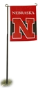 IRON N GARDEN FLAG Nebraska Cornhuskers, 2 sided Garden Flag