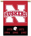 Huskers Championship Banner Nebraska Cornhuskers, Nebraska  Flags & Windsocks, Huskers  Flags & Windsocks, Nebraska  Flags & Windsocks, Huskers  Flags & Windsocks, Nebraska Huskers Championship Banner, Huskers Huskers Championship Banner