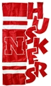APPLIQUE SCULPTED HOUSE FLAG Nebraska Cornhuskers, Nebraska  Flags & Windsocks, Huskers  Flags & Windsocks, Nebraska  Flags & Windsocks, Huskers  Flags & Windsocks, Nebraska Applique Sculpted House Flag, Huskers Applique Sculpted House Flag