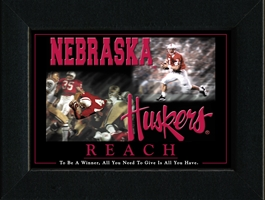 Reach Framed Nebraska Cornhuskers, Reach Framed