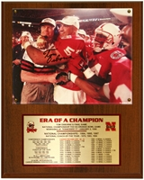 Coach Osborne Career Plaque Nebraska Cornhuskers, husker football, nebraska cornhuskers merchandise, husker merchandise, nebraska merchandise, husker memorabilia, husker autographed, nebraska cornhuskers autographed, Tom Osborne autographed, Tom Osborne signed, Tom Osborne collectible, Tom Osborne, nebraska cornhuskers memorabilia, nebraska cornhuskers collectible, Coach Osborne Autographed Career Plaque