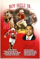 Roy Helu Autographed Career Print Nebraska Cornhuskers, husker football, nebraska cornhuskers merchandise, husker merchandise, nebraska merchandise, husker memorabilia, husker autographed, nebraska cornhuskers autographed, nebraska cornhuskers memorabilia, nebraska cornhuskers collectible, Roy Helu Jr. Autographed Career Print