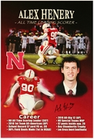 Alex Henery Autographed Career Print Nebraska Cornhuskers, husker football, nebraska cornhuskers merchandise, husker merchandise, nebraska merchandise, husker memorabilia, husker autographed, nebraska cornhuskers autographed, nebraska cornhuskers memorabilia, nebraska cornhuskers collectible, Alex Henery Autographed Career Print