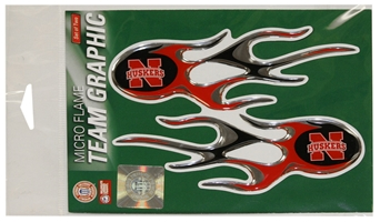 Husker Flame Graphics Stickers New Logo Nebraska Cornhuskers, Husker Flame Graphics Stickers New Logo