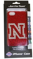 Nebraska Glitz iPhone 5G Crystal Faceplate Nebraska Cornhuskers, Nebraska  Novelty, Huskers  Novelty, Nebraska  Ladies Accessories, Huskers  Ladies Accessories, Nebraska  Ladies, Huskers  Ladies, Nebraska Glitz Iphone 5G Faceplate, Huskers Glitz Iphone 4G Faceplate