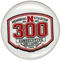 300th Sellout Button Nebraska Cornhuskers, 300th Sellout Button
