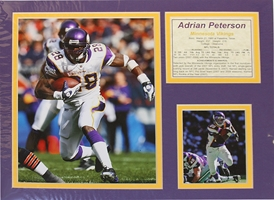 Adrian Peterson Matted Nebraska Cornhuskers, Nebraska One of a Kind, Huskers One of a Kind, Nebraska Adrian Peterson Matted, Huskers Adrian Peterson Matted