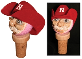 Husker Cowboy Bottle Cork Nebraska Cornhuskers, Nebraska One of a Kind, Huskers One of a Kind, Nebraska Husker Cowboy Bottle Cork, Huskers Husker Cowboy Bottle Cork