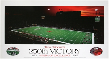 Tom Osborne 250th Win vs Oklahoma Print Nebraska Cornhuskers, ON SALE  250th Win Poster