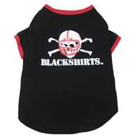 Blackshirts Dog Tee Nebraska Cornhuskers, husker football, nebraska merchandise, husker merchandise, nebraska cornhusker merchandise, nebraska cornhuskers pet items, husker pet items,Blackshirts Dog Tee