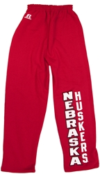 Russell Youth Red Open Bottom Pants Nebraska Cornhuskers, Nebraska  Youth, Huskers  Youth, Nebraska Shorts & Pants , Huskers Shorts & Pants , Nebraska Russell Red Open Bottom Pants, Huskers Russell Red Open Bottom Pants