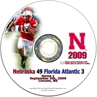 2009 Florida Atlantic Dvd Husker football, Nebraska cornhuskers merchandise, husker merchandise, nebraska merchandise, nebraska cornhuskers dvd, husker dvd, nebraska football dvd, nebraska cornhuskers videos, husker videos, nebraska football videos, husker game dvd, husker bowl game dvd, husker dvd subscription, nebraska cornhusker dvd subscription, husker football season on dvd, nebraska cornhuskers dvd box sets, husker dvd box sets, Nebraska Cornhuskers, 2009 Florida Atlantic